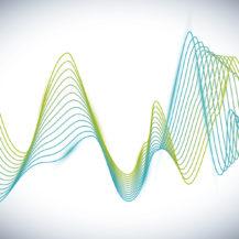 Sound design over white background, vector illustration.